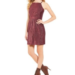 Plum Corduroy Sugarlips Mini Dress